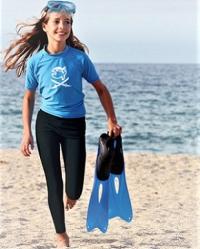 Леггинсы для плавания детские UV IQ синие 3