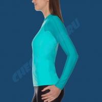 Гидромайка женская IQ UV300+ бирюза с длинным рукавом 6