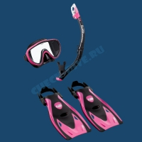 Комплект маска трубка ласты Tusa UP1521 1