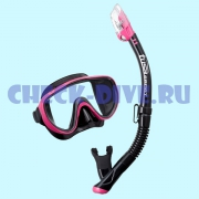 Комплект маска трубка Tusa UC1625QB Black Series