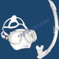 Набор маска трубка Technisub Look2 White 1