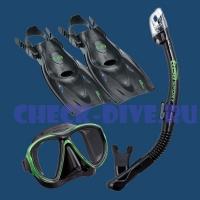 Комплект маска трубка лаcты Tusa UP2521 1