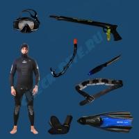 Комплект для подводной охоты Эконом 5мм 1