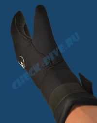 Трёхпалые рукавицы Beuchat 7мм 5