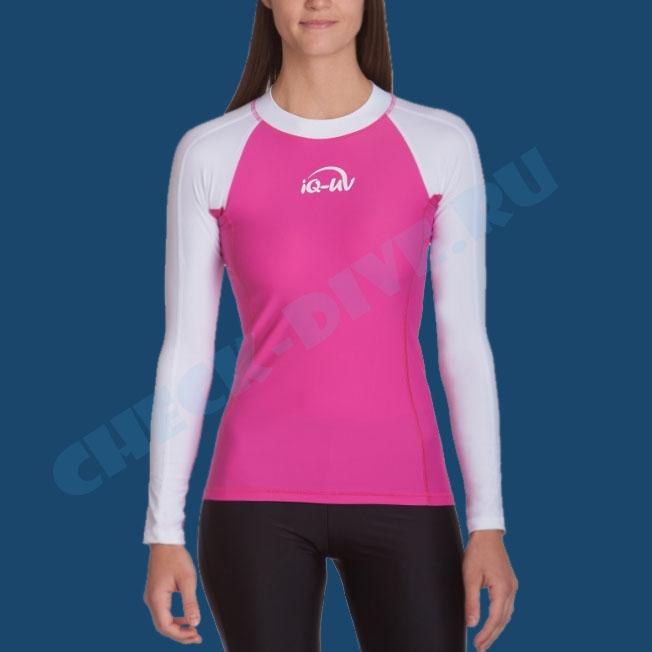 Гидромайка женская IQ UV300+ бело-розовая