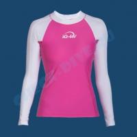Гидромайка женская IQ UV300+ бело-розовая 2